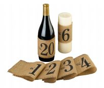 Rustic Burlap Table Number Wraps 1-20